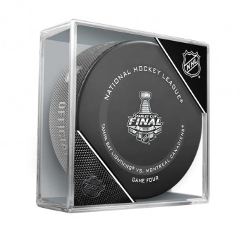 NHL produkty puk 2021 Stanley Cup Final Matchup Fanatics Authentic Unsigned Inglasco Game 4 Official Game Puck