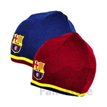Barcelona zimní čepice azul y rojo