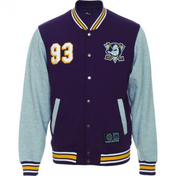 Anaheim Ducks Bunda Majestic Fleece Letterman Jacket