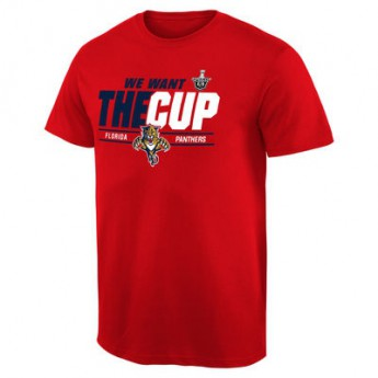Florida Panthers tričko 2016 Stanley Cup Playoffs We Want The Cup