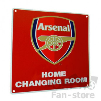 FC Arsenal cedule na zeď red home changing room