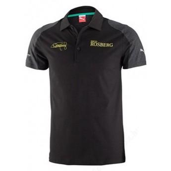 Puma Mercedes AMG Petronas pánské polo tričko Rosberg schwarz