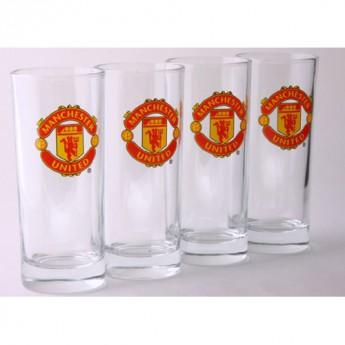 Manchester United sklenice devils 4ks
