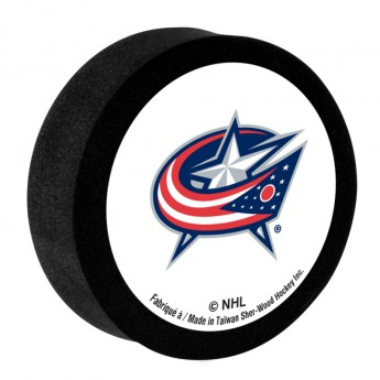 Columbus Blue Jackets Pěnový puk White Sher-Wood