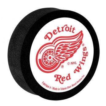 Detroit Red Wings Pěnový puk White Sher-Wood