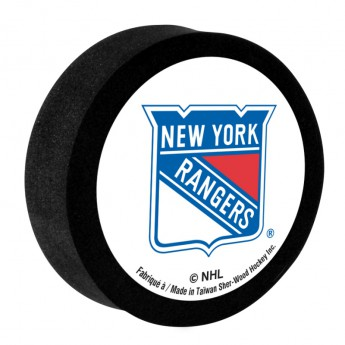 New York Rangers pěnový puk white Sher-Wood