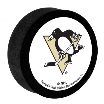 Pittsburgh Penguins Pěnový puk White Sher-Wood