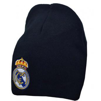 Real Madrid zimní úpletová čepice black logo