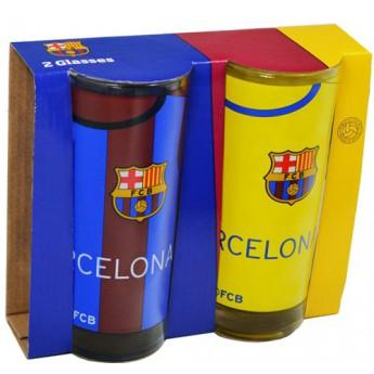 FC Barcelona čirá sklenice blueredyellow logo 2ks
