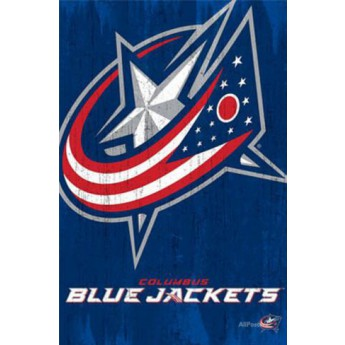 Columbus Blue Jackets NHL Plakát Team Logo Cut