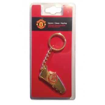 Manchester United přívěšek na klíče gold boot