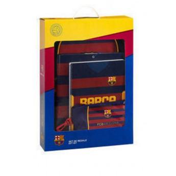 FC Barcelona dárkový set školní striped
