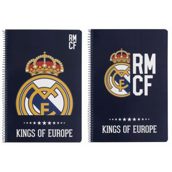Real Madrid blok sešit A4 kings of europe blue