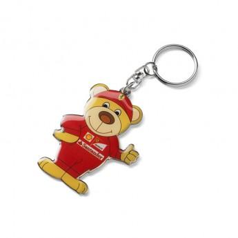 Ferrari kovová klíčenka medvídek F1 Team