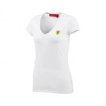 Ferrari dámské tričko V-neck white F1 Team 2016