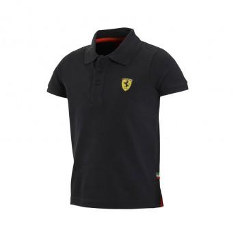 Ferrari dětské polo tričko Classic black big logo F1 Team 2016