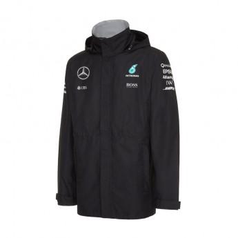 Mercedes AMG Petronas pánská bunda s kapucí Rain black Team F1 2016