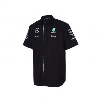 Mercedes AMG Petronas pánská košile black Team F1 2016