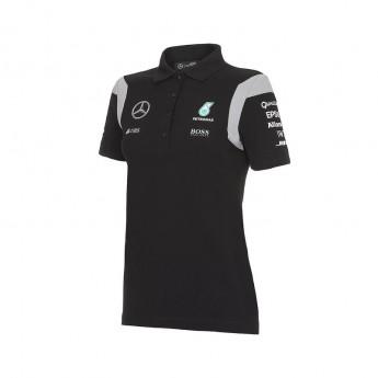 Mercedes AMG Petronas dámské polo tričko black Team F1 2016