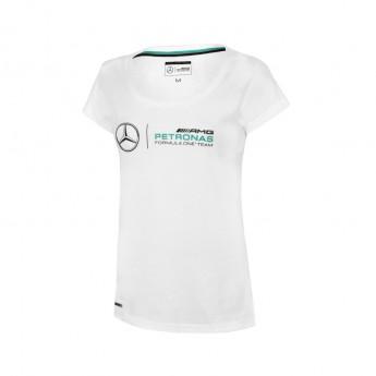 Mercedes AMG Petronas dámské tričko logo white F1 2016