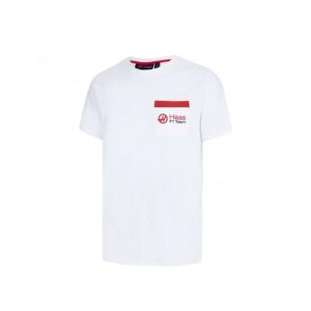 Haas F1 pánské tričko pocket white 2016