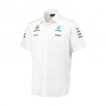Mercedes AMG Petronas pánská košile white F1 Team 2017