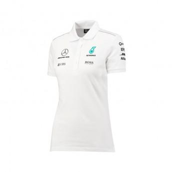 Mercedes AMG Petronas dámské polo tričko white F1 Team 2017