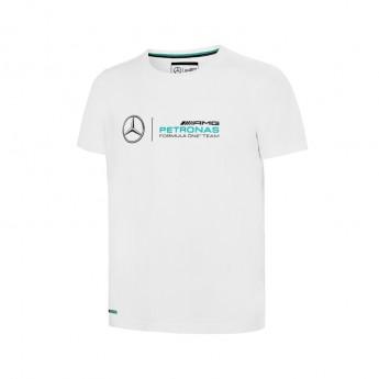 Mercedes AMG Petronas dětské tričko logo white F1 2016