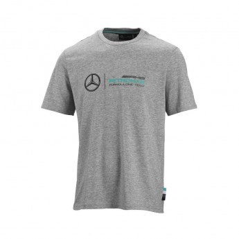 Mercedes AMG Petronas pánské tričko logo grey F1 Team