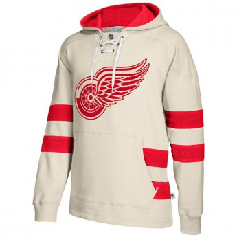 Detroit Red Wings Pánská Mikina 2017 CCM Jersey Pullover Hoodie White