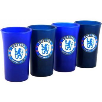 FC Chelsea sklenice štamprle blue 4ks
