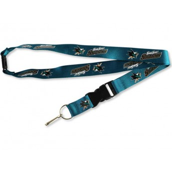 San Jose Sharks klíčenka na krk Team Lanyard Multicolor