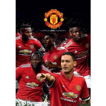Manchester United kalendář 2018 (29,7 x 42 cm) A3