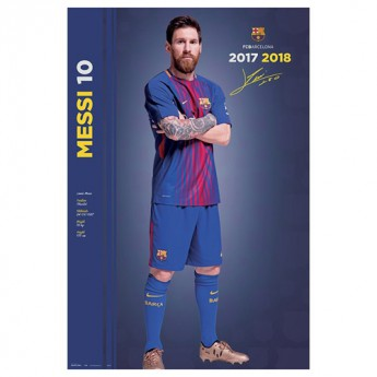 FC Barcelona plakát 2017-18 Messi 61 x 91,5 cm