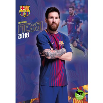Lionel Messi kalendář 2018 (29 x 42cm) + 12 samolepek