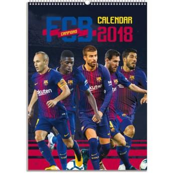 FC Barcelona kalendář 2018 (29,7 x 42 cm) A3
