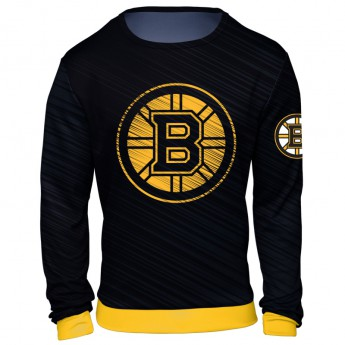 Boston Bruins pánská mikina black NHL Static Rain