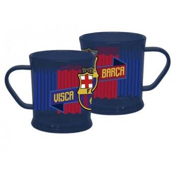 FC Barcelona plastový hrnek blue