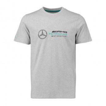Mercedes AMG Petronas pánské tričko Logo grey F1 Team 2018