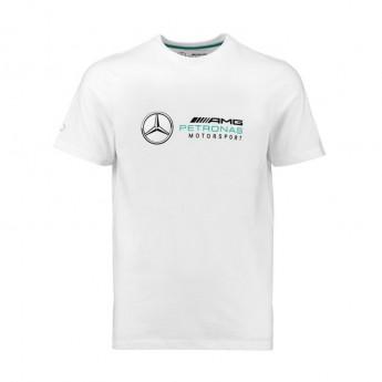 Mercedes AMG Petronas pánské tričko Logo white F1 Team 2018