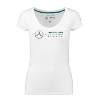 Mercedes AMG Petronas dámské tričko logo white F1 Team 2018