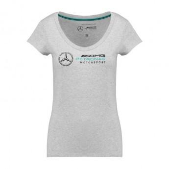 Mercedes AMG Petronas dámské tričko Logo grey F1 Team 2018