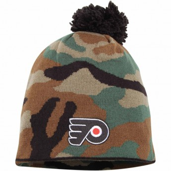Philadelphia Flyers zimní čepice Camo Cuffless Knit Beanie With Pom