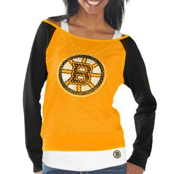 Boston Bruins set dámských triček Holey Long Sleeve Top and Tank Top II Set