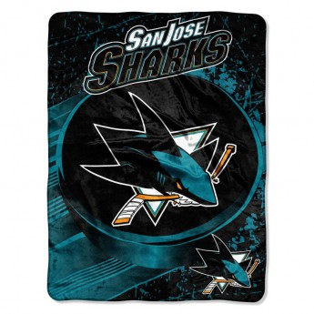San Jose Sharks deka Plush Micro Throw