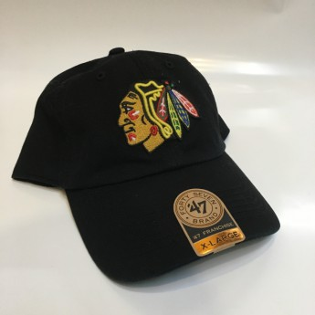 Chicago Blackhawks čepice baseballová kšiltovka black Classic Franchise Fitted II