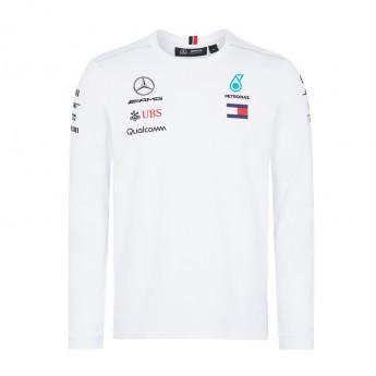 Mercedes AMG Petronas pánské tričko Longsleeve white F1 Team 2018