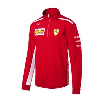 Puma Ferrari pánská mikina Half Zip red F1 Team 2018