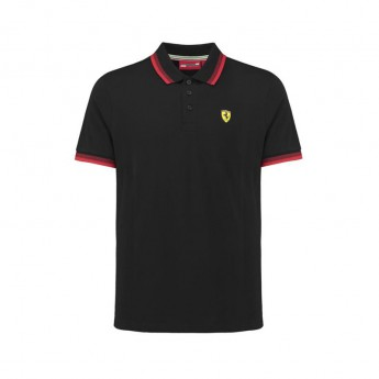 Ferrari pánské polo tričko Scuderia Collar black F1 Team 2018