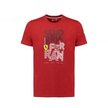 Scuderia Ferrari pánské tričko Track red F1 Team 2018